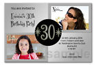 Personalised Photo Party Invitations Then & Now Invites 40th 50th 60th 70th T2
