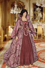 Noblewoman's Renaissance Style Dress Handmade from Antique Velvet and Brocade