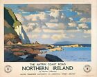 Northern Irish Travel Poster Antrim Coast Road Northern Ireland Norman Wilkinson
