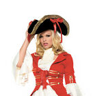 Lady Pirate Costume Hat Gold Trim Lady Buccaneer Hat Lady Swashbuckler Hat 2099