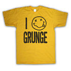 I LOVE GRUNGE ROCK MUSIC RETRO VINTAGE STYLE FASHION KIDS T SHIRT ALL SIZE & COL