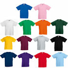 3 x FRUIT OF THE LOOM PLAIN CHILDS GIRLS BOYS T SHIRT TEE ALL SIZES SS031