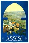 Assisi Vintage Italian Travel Poster VII091 Art Print A4 A3 A2 A1