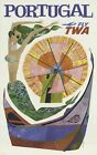 TWA Flights To Portugal Poster A3 / A2 Print