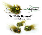 NEW!! Fly Fishing  *WeedGuard* CB EYED FRITZ DAMSEL Weed Resistant Trout Flies