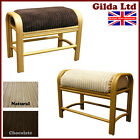 Cane Footstool & Cushion Conservatory Furniture Rattan Wicker Foot Stool - Gilda