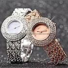 Charm Silver Rose Gold Tone Crystal Ladies Women Bracelet Bangle Quartz Watch