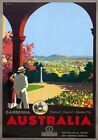 Canberra Australia Federal Capital & Garden City Vintage Austrlian travel Poster