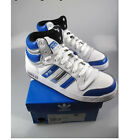 Adidas white blue leather top ten hi childrens casual lace up basketball boots
