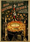 Vintage High Wire Artists Circus Poster CIRCUS0537 Art Print Canvas A4 A3 A2 A1