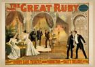 Vintage The Great Ruby Poster CIRCUS0953 Art Print Canvas A4 A3 A2 A1