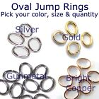 Oval Jump Rings 3mm 4mm 5mm 6mm Silver Gold Gunmetal Copper 100 200 500 1000