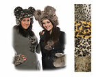 New Luxury Faux Fur Fluffy Animal Hat With Giant Ears, Winter Ski Gift