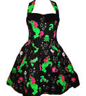 HELL BUNNY BLACK ZOMBIE PONY UNICORN DRESS 8-22 PLUS SIZE HALLOWEEN NEW HORROR
