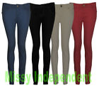 New Womens Denim Skinny Slim Fit Coloured Soft Stretchy Casual Cotton Jeans