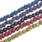 "4mm Rock Lava Round Gemstone Beads 15.5"" Pick Color"