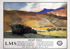 Shap Fell Cumbria Route of The Royal Scot LMS Vintage Travel Poster by D Maxwell