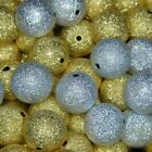 ♥ Gold and Silver Stardust Beads ♥ 6, 8, 10, 12, 14 and 16mm ♥ Glitter, Ba