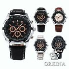 Orkina Mens Boyfriend 6 Hands 24Hrs Stopwatch Sport Quartz Wrist Watch Gift