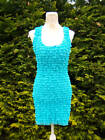 Jane Norman Ruffle Bodycon Wiggle Party Dress in Aqua Size 8 10 12 NEW Stunning!