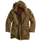 SURPLUS XYLONTUM GIANT PARKA WINTER HOODED MENS LONG JACKET WATER-REPELLANT GOLD
