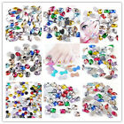 100pcs clourful faceted resin crystal nail art phone clothes bag decorations mix