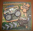 Handmade Greeting Card 3D Any Occasion With a Monster Truck Camo