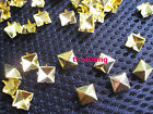 Golden Pyramid Spike Rivets Cone Studs Punk Rock Spots Bag Shoes  Leather Crafts