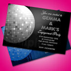 Personalised Engagement Party Invitations Invites Disco E25