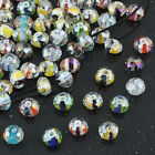 Multicolor Faceted AB Crystal Glass Lampwork Stripe Loose Spacer Bead 8x11mm DIY