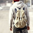 Large Canvas Satchel Bag Womens Sports School Backpack Fashion Rucksack 4Colors