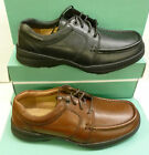 "SALE: Clarks Gents Brown or Black Leather Extra Wide Shoes ""LINE PATH"""