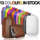 NEW PULL UP TAB POUCH COVER PU LEATHER CASE FOR SAMSUNG CHAT 335 MOBILE PHONE