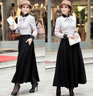 Womens Ladies Elegant Wool Skirt Long Skirt Winter Skirt  #GF0695