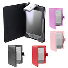 WALLET LEATHER CASE/LIGHT COVER+FILM FOR AMAZON KINDLE 4 4TH - BLACK/PURPLE/RED