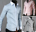 2014 Collection New Stylish Mens Sexy Formal Casual Slim-Fit Dress Shirt-WSS