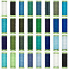 ♥ Gutermann Blues & Greens Top Stitch Extra Strong & Sew All Thread,Jeans,Sewing