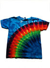 "Groovy Blueberry Youth Tie-dye ""Rainbow"" Kids T Shirt"