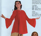NWT Praise Top Bell Sleeve Pullover Ch/ Ladies Plus Purple Red Liturgical Dance