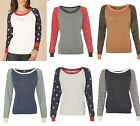 Alternative Apparel Ladies Eco Jersey Slouchy Pullover Solid Printed Size S-L XL