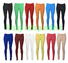 Womens Denim Look Colour Pop Button Detail Skinny Jeggings Leggings Jeans 8-20