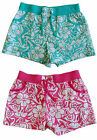 new SO JENNI by JENNIFER MOORE girls TROPICAL LUAU HIBISCUS SHORTS nwt S L XL