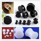 Acrylic Solid Saddle Drum Double Flare Ear Plug Flesh Tunnel Expander Stretcher