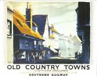 1930's Southern Railways Lewes Sussex Railway Poster A3 Print