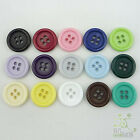 20 pcs plastic resin button lot round sewing 18mm size28 15 color options U pick