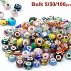 Bulk Sale Murano Glass Charm Spacer Beads Loose Finds Bracelets 10/50/100Pcs