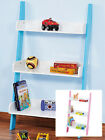 Childrens 3 Shelf MDF Wall Unit Bedroom Playroom Storage Tidy Bookcase Nursery