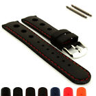 Mens Silicon Rubber SPORTS Waterproof Divers Watch Strap Band 20mm 22mm - MM