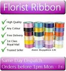 100 YARDS x 50mm FLORIST RIBBON - Any Colour - Hamper / Wedding / Bouquet
