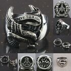 Fashion Multiple Motorcycle Stainless Steel Skulls Religion Totems Finger Ring
